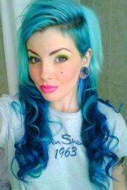cool aqua and blue hair hairstyles
