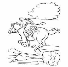 Pony Express Kids Coloring Pages Free Colouring Pictures