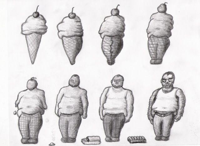 Ice Cream Metamorphosis by alohaman636.deviantart.com on