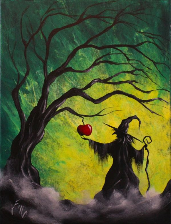 25 best ideas about Halloween Canvas Paintings on