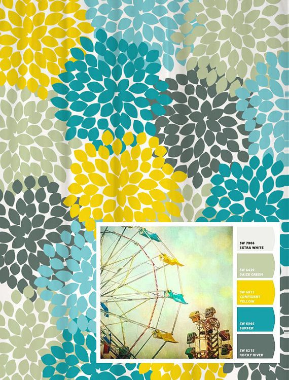 25 Best Ideas About Yellow Shower Curtains On Pinterest Red