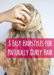5 easy hairstyles naturally