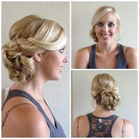 Wedding hair/ loose side bun// exquisite reflections ...