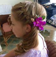 flower girl hair beach wedding