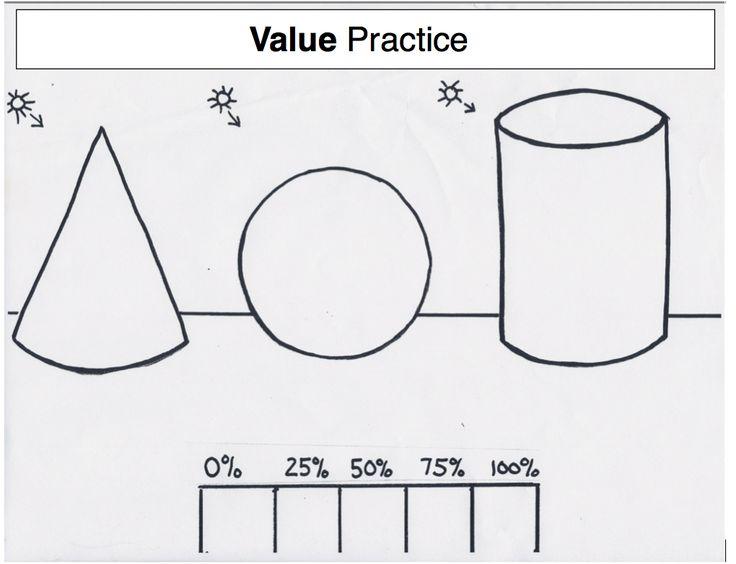 17 Best images about Teaching Art: 3-D Shapes/Value