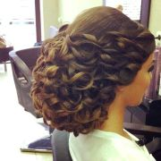 big bridal updo with volume