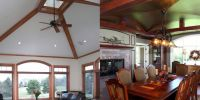 two different types of vaulted ceilings