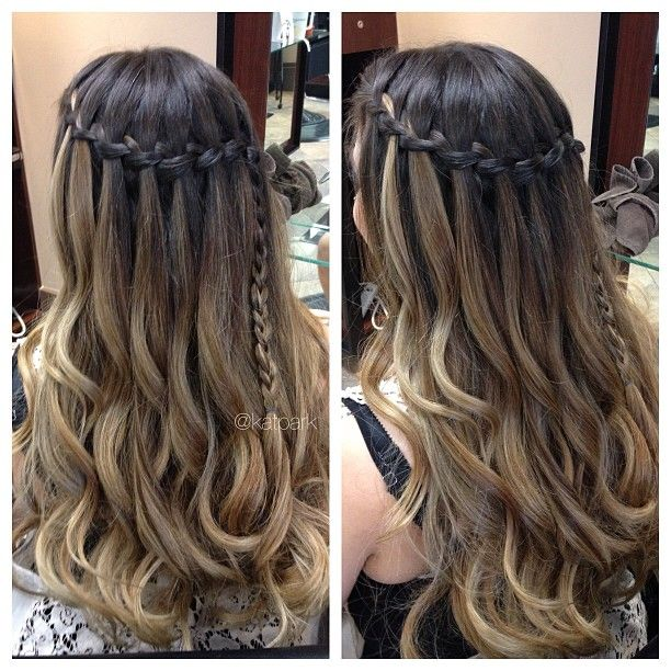 Ombre Hair And Waterfall Braid All Things Beauty