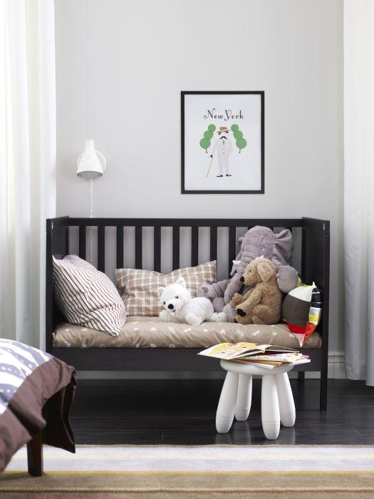 SUNDVIK Crib blackbrown  Big kids Furniture and Nursery ideas