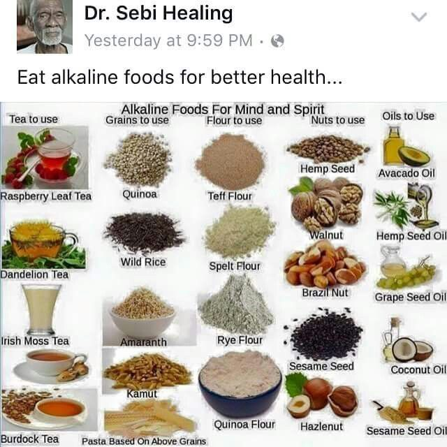Dr Food Cell List Sebi