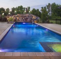 Beautiful, Modern Pool with L.E.D. features, Spill-Over ...