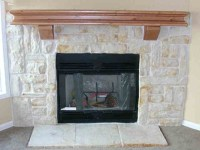 Austin stone fireplace? not this mantle for sure. like the ...