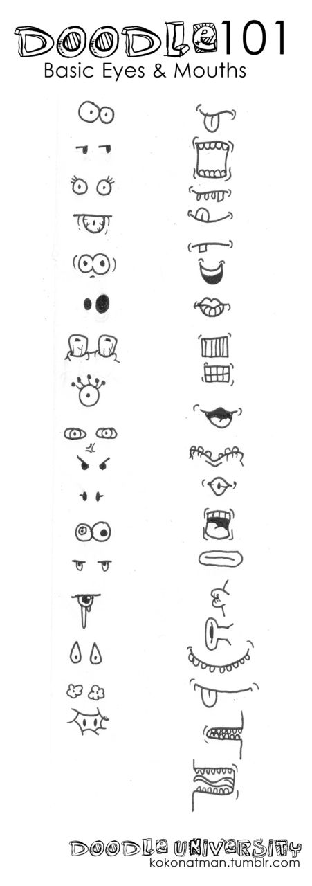 eyes & mouths. facial features