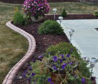Red lava rock landscape ideas. Would look cool at our ...