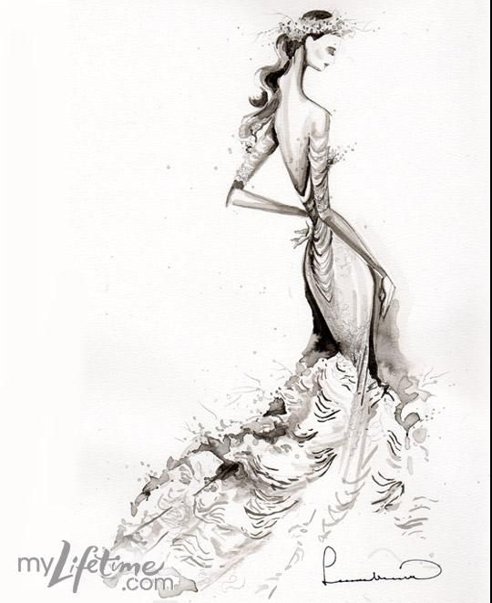 24 best images about Wedding Dress Sketches on Pinterest