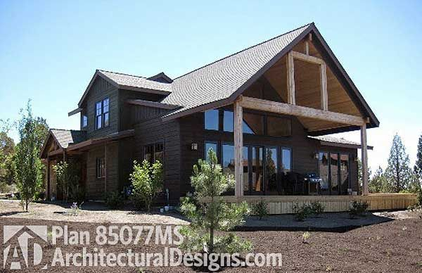 Plan 85077MS: 3 Bed Craftsman With Lodge-like Feel