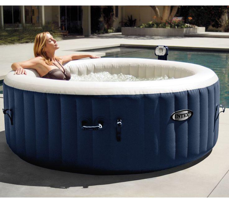 intex pure spa portable hot tub w headrests extra filters