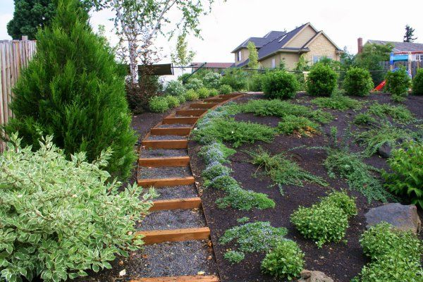 side yard landscaping ideas steep
