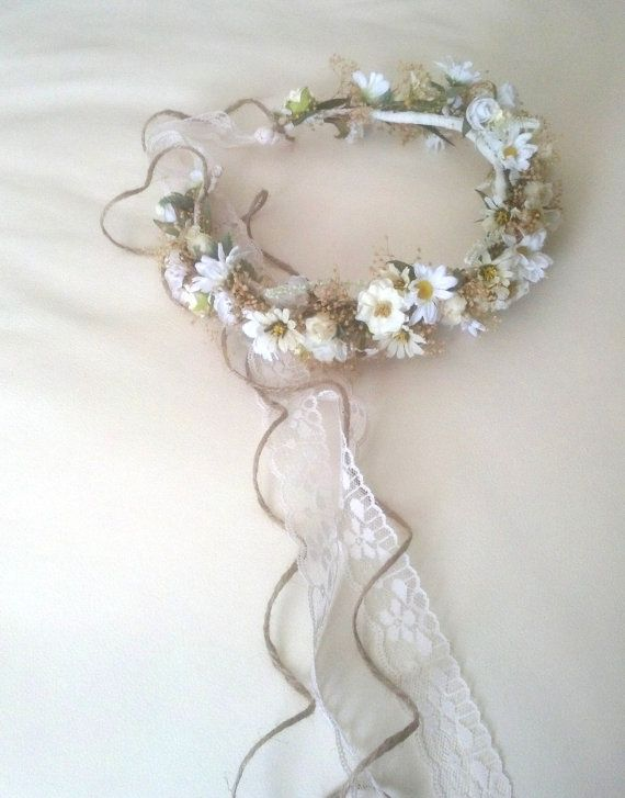 Bridal Floral Crown Wedding Accessories Dried Flower Hair