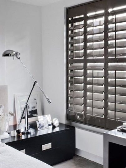 kitchen window treatments above sink high chair for counter gloss lacquered shutters | gallery blinds ...
