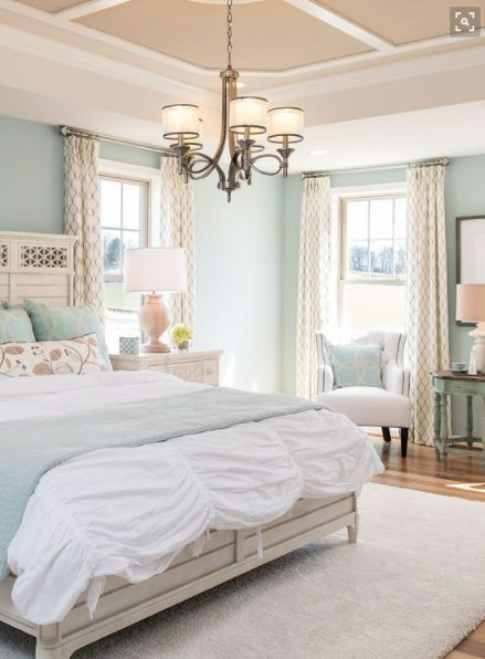 simple light blue walls master bedroom 17 Best images about Cozy Bedroom Ideas on Pinterest