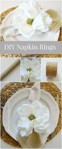 25+ best ideas about Napkin rings on Pinterest   Napkin ...