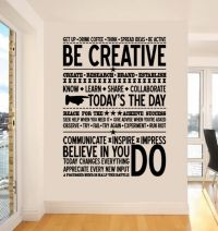 #Inspiring decor for the office. Be #Creative wall sticker