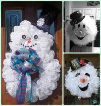 25+ best ideas about Snowman Wreath on Pinterest   Diy ...