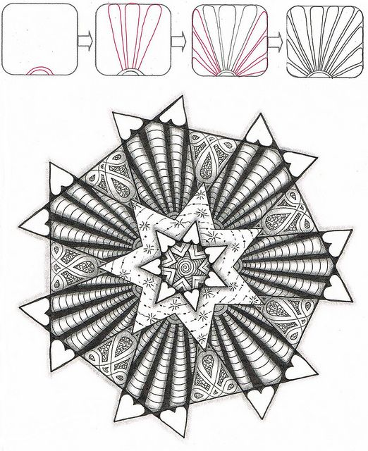 2253 best images about ZenTangle Instructions /Steps /How