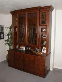Gun Cabinet Plans. Finest Lewis Custom Woodwork Custom ...