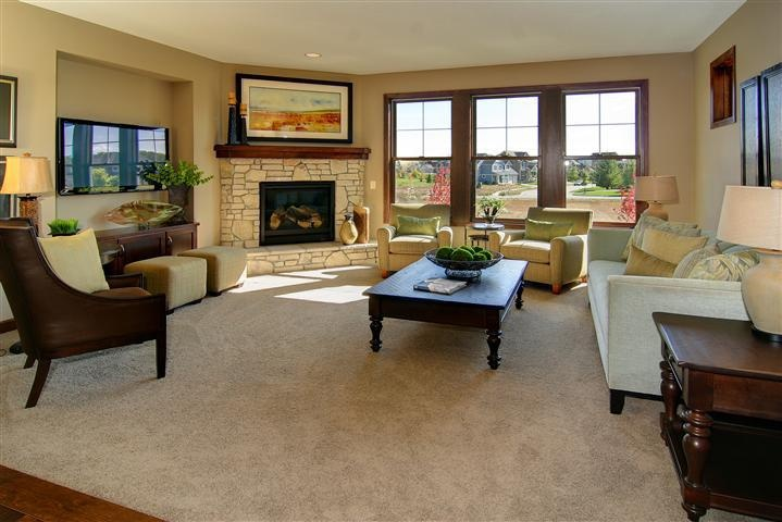 Corner Fireplace furniture placement