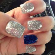 dallas cowboy nails silver