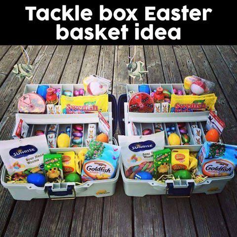 Tackle Box Easter Basket Idea! Easter Fun Pinterest