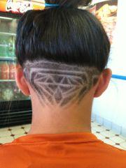 of head diamond shaving