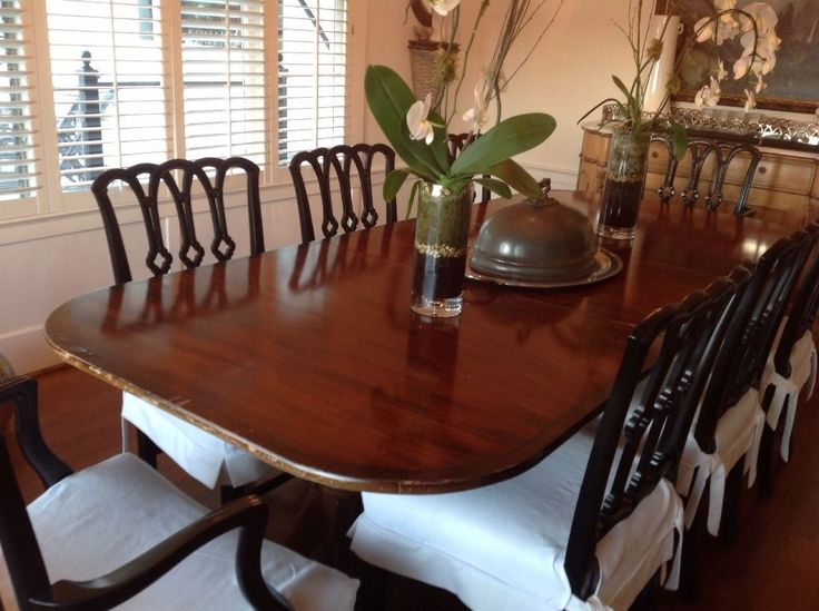 1930s Duncan Phyfe Dining Room Set With 8 Chairs Chairs