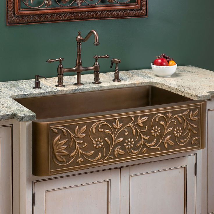 Excellent Vine Design Copper Farmhouse Sink With Farmhouse Kitchen Sinks  Ebay
