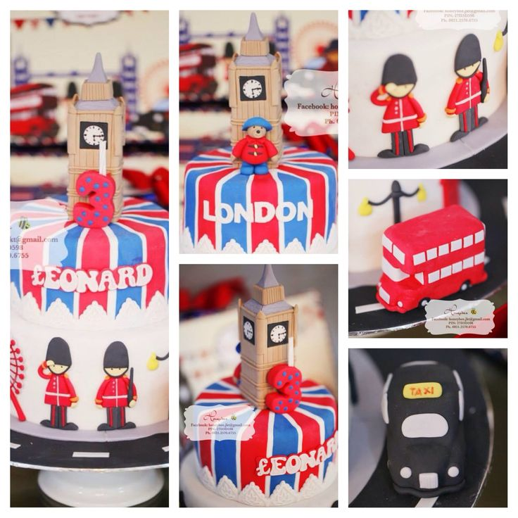 London Themed Birthday Cake Gift Hampers & Cake