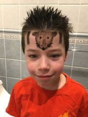 crazy hair day boys. hedgehog