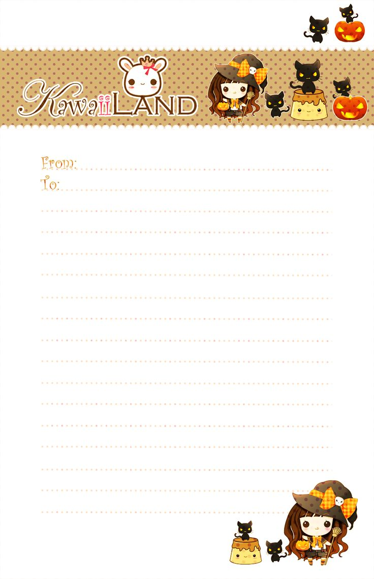 Best Images About Memo Paper Templates Favor Kawaii Letter Paper For Your  Halloween ^^ ^
