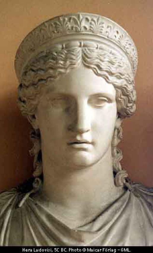 Hera: Queen of Olympus, known as Juno to the Romans, rarely show her in a particularly positive light; goddess of marriage: