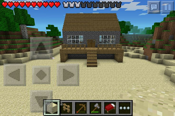 minecraft pe survival house ideas