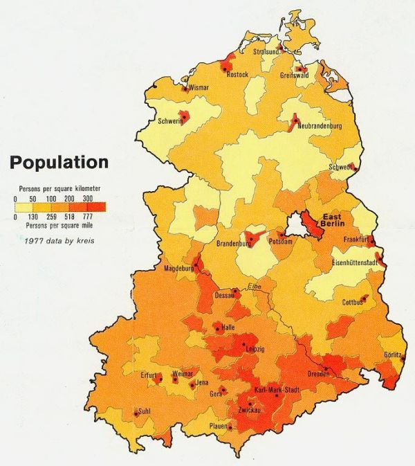 This is a population map of Germany This shows the