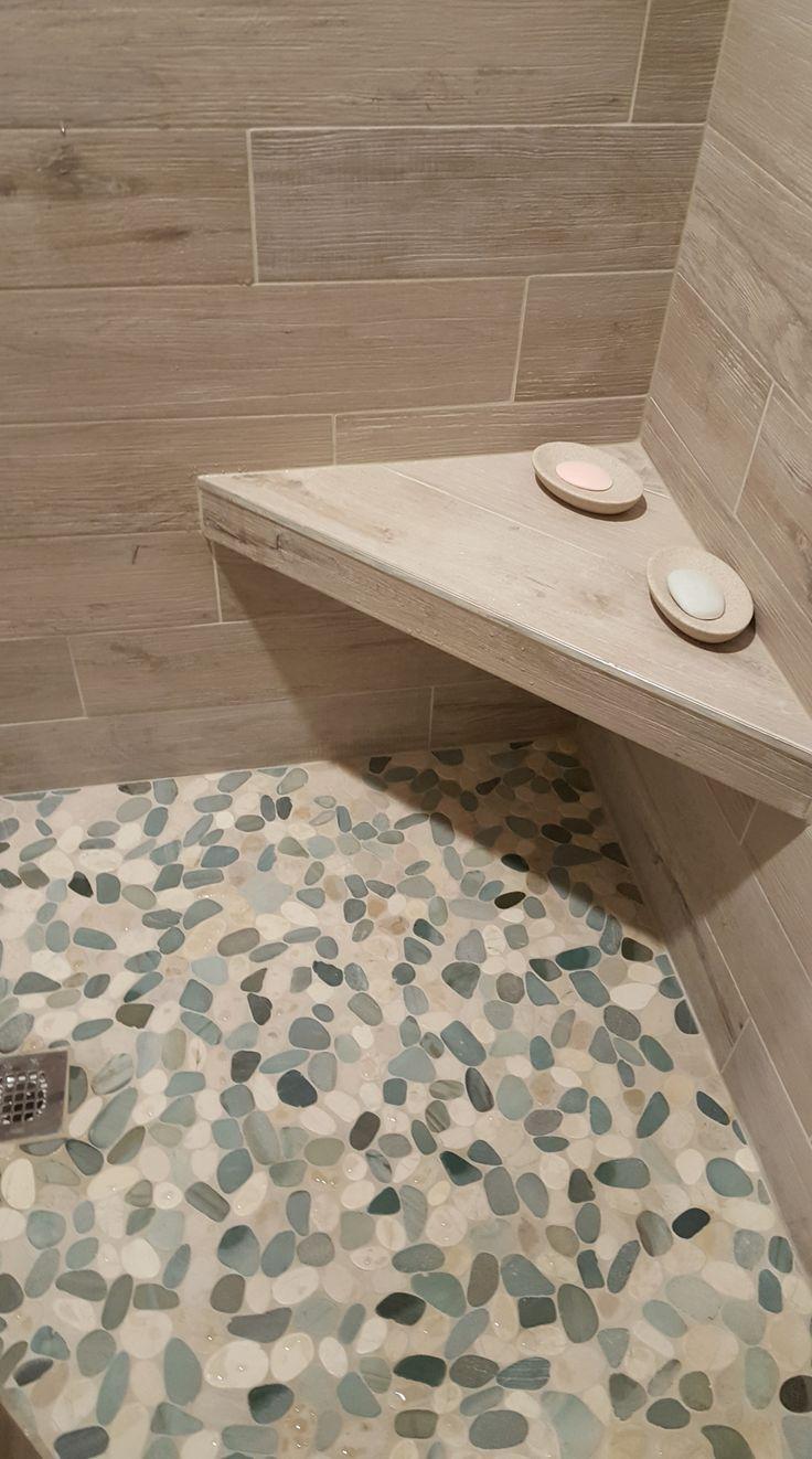 Pebble Floor Shower