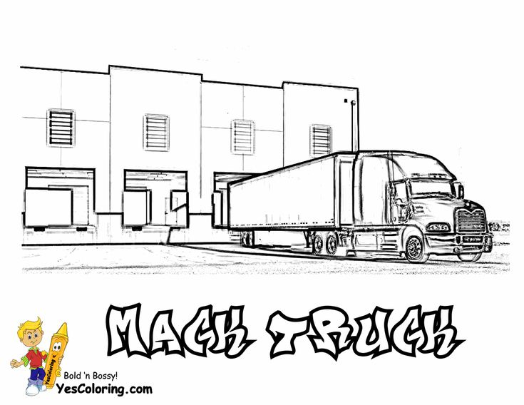 Mack Truck Coloring Sheet At YesColoring http://www