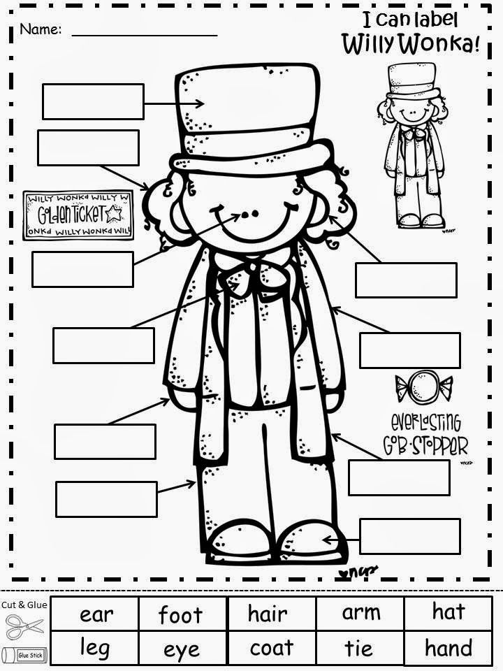 Free: Willy Wonka Labeling Sheet....Freebie For A Teacher