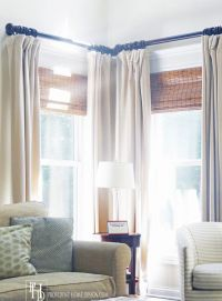 25+ best ideas about Corner window treatments on Pinterest