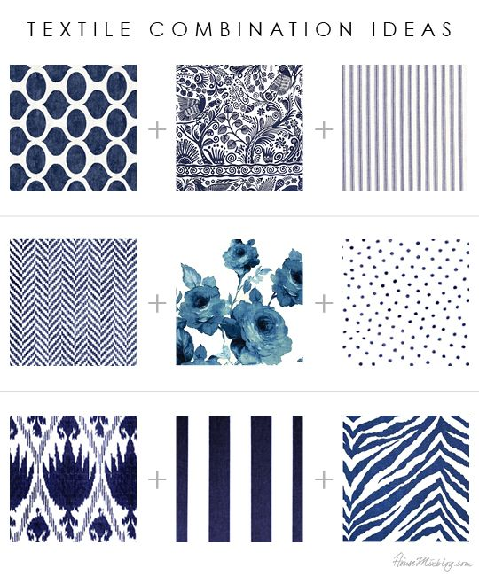 Textile Pattern And Print Combinations Florals Stripes Ikat Floral Geometric Herringbone