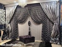 25+ best ideas about Black and silver curtains on ...