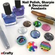 diy nail polish sharpie & decocolor