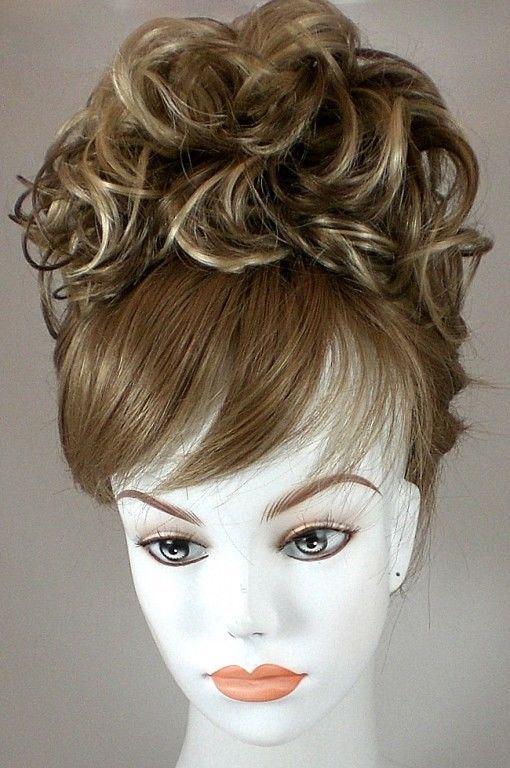 Bun Based Wiglet Chignon Updo  w Drawstring Hairpiece